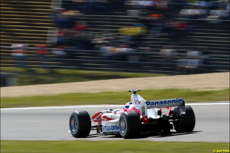 Olivier Panis, Toyota, European GP, Saturday May 29th, 2004.