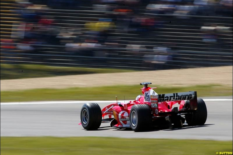Rubens Barrichello, Ferrari, European GP, Saturday May 29th, 2004.