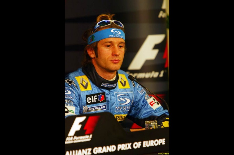Jarno Trulli, European GP, Saturday May 29th, 2004.