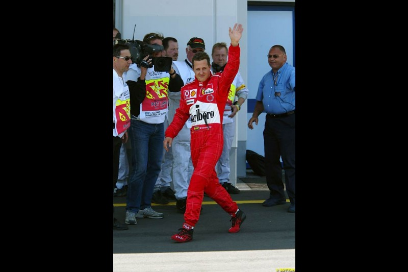Michael Schumacher, European GP, Saturday May 29th, 2004.