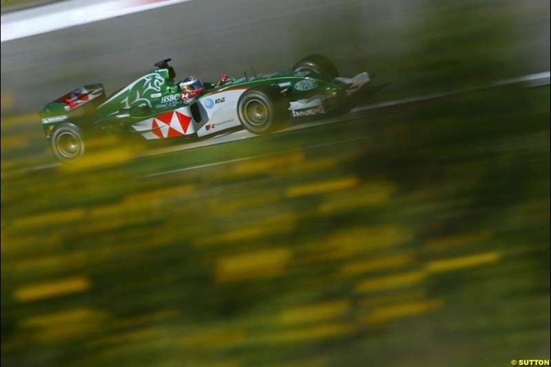 Christian Klien, Jaguar, European GP, Saturday May 29th, 2004.