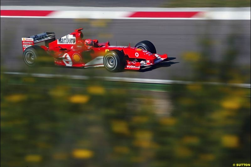 Michael Schumacher, Ferrari, European GP, Saturday May 29th, 2004.
