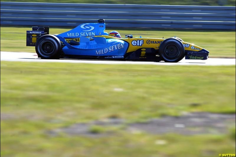 Fernando Alonso, Renault, European GP, Saturday May 29th, 2004.