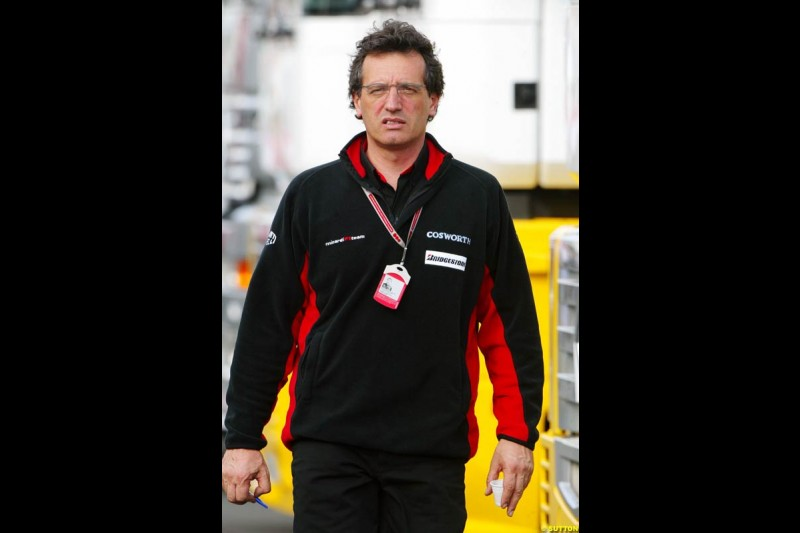 Minardi technical director Gabriele Tredozi, European GP, Saturday May 29th, 2004.