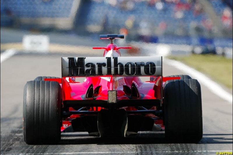 Ferrari, European GP, Saturday May 29th, 2004.