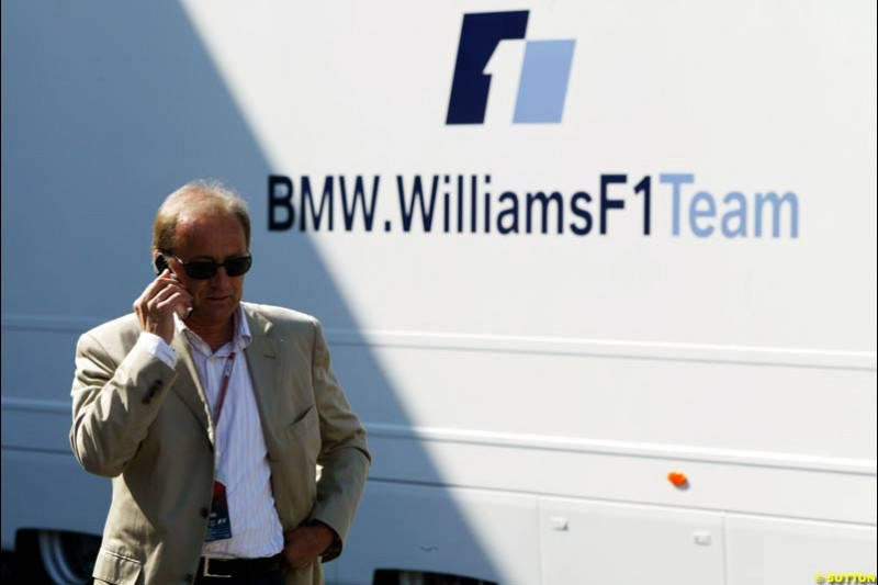 Werner Heinz, manager of Nick Heidfeld, European GP, Saturday May 29th, 2004.