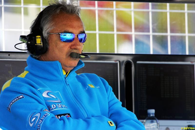 Flavio Briatore, European GP, Saturday May 29th, 2004.