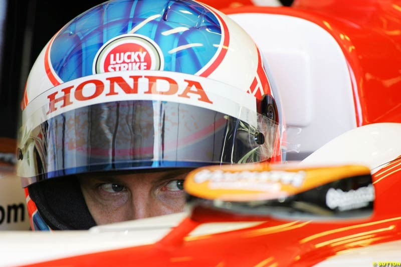 Jenson Button, BAR-Honda, European GP, Saturday May 29th, 2004.