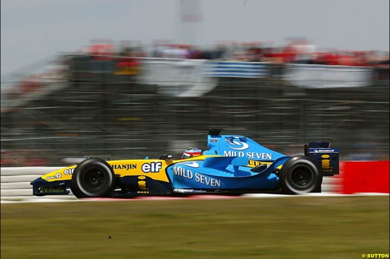 Fernando Alonso, Renault, European GP, Sunday May 30th, 2004.