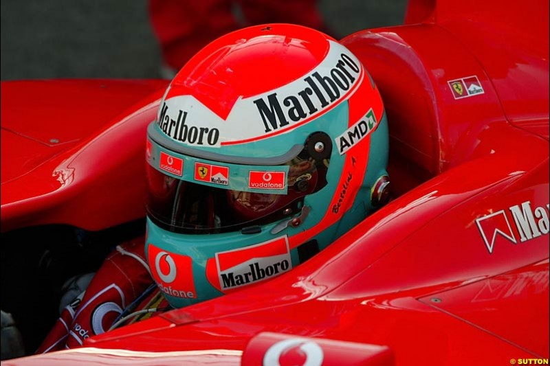 Andrea Bertolini, Ferrari, Monza Testing, Friday June 4th, 2004.