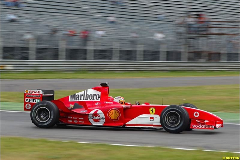 Luca Badoer, Ferrari, Monza Testing, Friday June 4th, 2004.