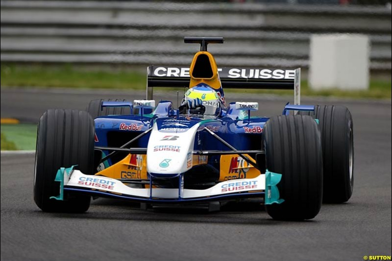 Giancarlo Fisichella, Sauber-Petronas, Monza Testing, Thursday June 3rd, 2004.