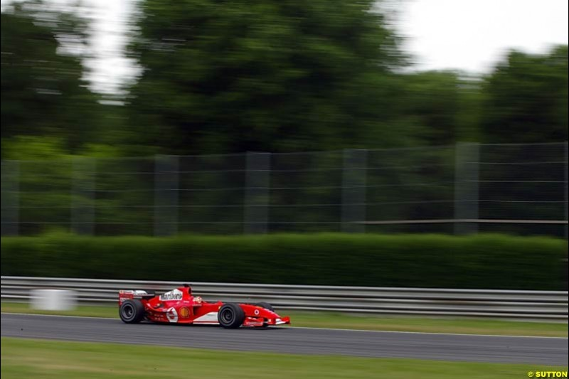 Luca Badoer, Ferrari, Monza Testing, Thursday June 3rd, 2004.
