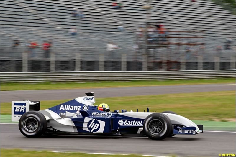 Ralf Schumacher, BMW-Williams, Monza Testing, Thursday June 3rd, 2004.