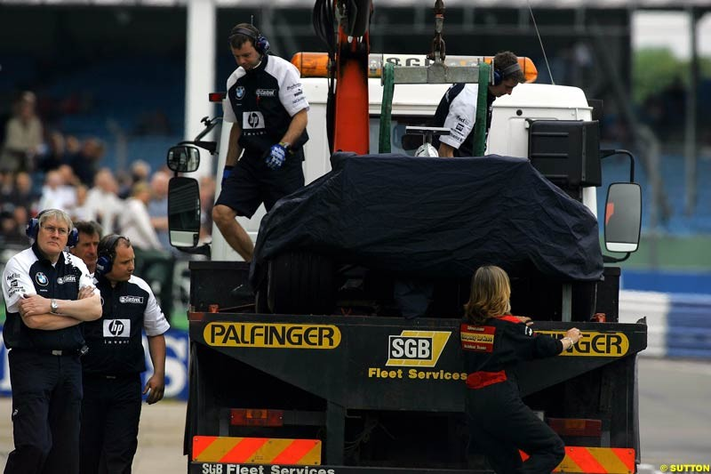 BMW-Williams, Silverstone Testing, Thursday June 3rd, 2004.