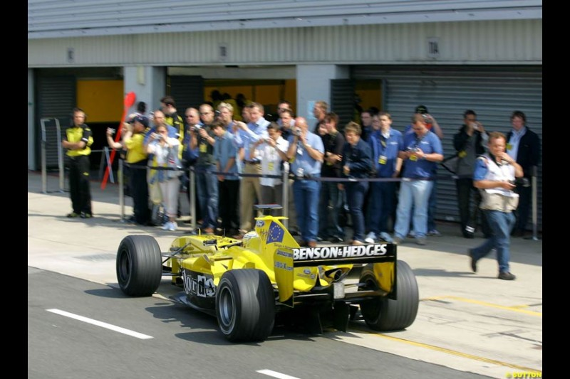 Jordan-Ford, Silverstone Testing, Wednesday June 2nd, 2004.