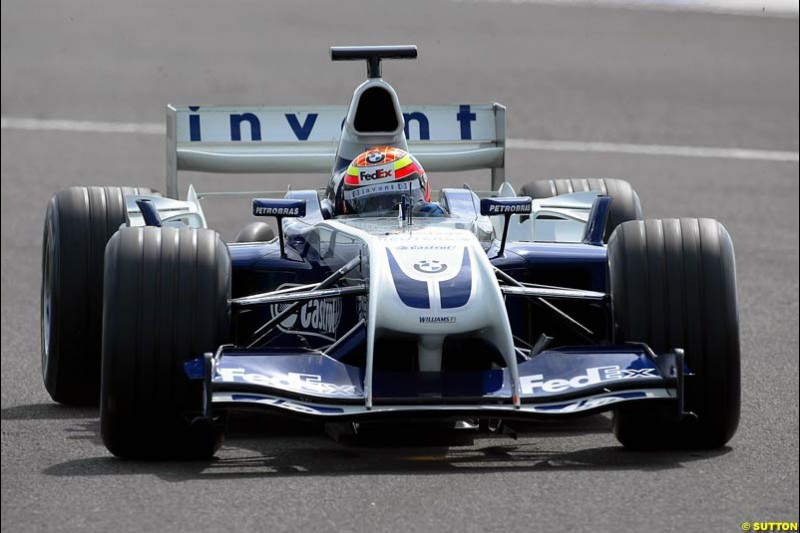 Antonio Pizzonia, BMW-Williams, Silverstone Testing, Tuesday June 2nd, 2004.