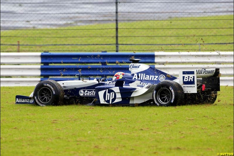Antonio Pizzonia, BMW-Williams, Silverstone Testing, Tuesday June 1st, 2004.