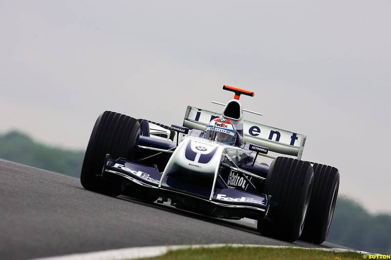 Marc Gene, BMW-Williams, Silverstone Testing, Tuesday June 1st, 2004.