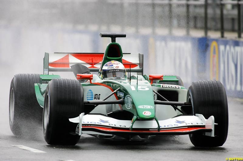Christian Klien, Jaguar, Silverstone Testing, Tuesday June 1st, 2004.