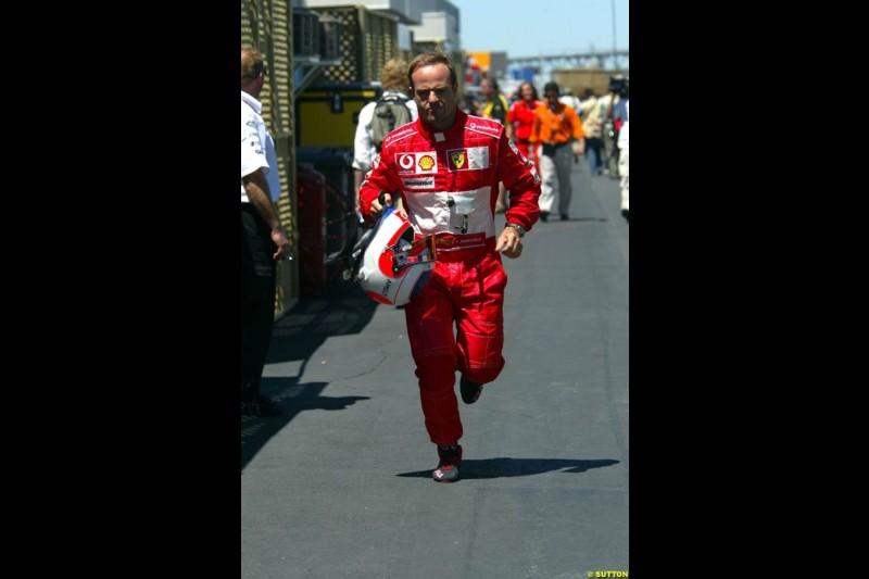 Rubens Barrichello, Ferrari. The Canadian Grand Prix, Montreal, Canada. Saturday, June 13th, 2004.