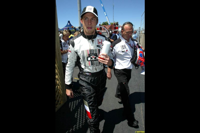 Jenson Button, BAR. The Canadian Grand Prix, Montreal, Canada. Saturday, June 13th, 2004.