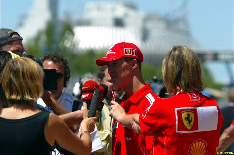 Michael Schumacher, Canadian GP, Saturday June 12th, 2004.