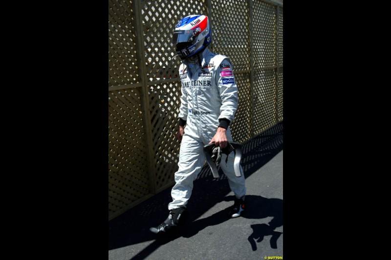 Kimi Raikkonen, Canadian GP, Saturday June 12th, 2004.