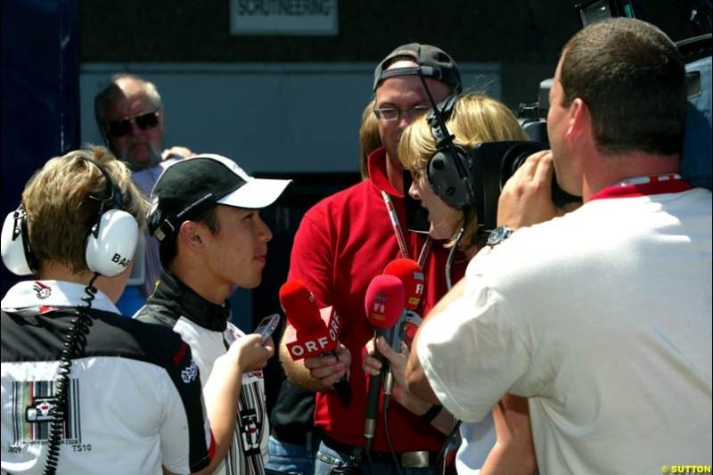 Takuma Sato, Canadian GP, Saturday June 12th, 2004.