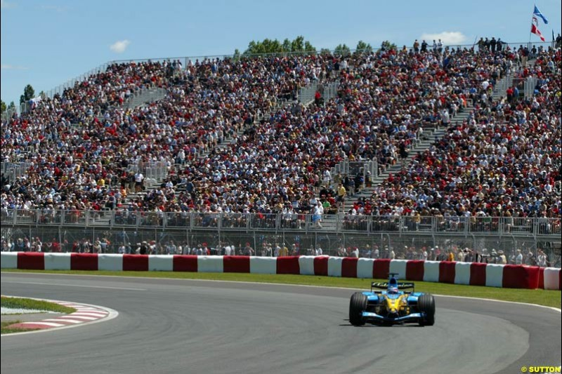 Fernando Alonso, Renault, Canadian GP, Saturday June 12th, 2004.