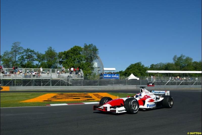 Olivier Panis, Toyota, Canadian GP, Saturday June 12th, 2004.