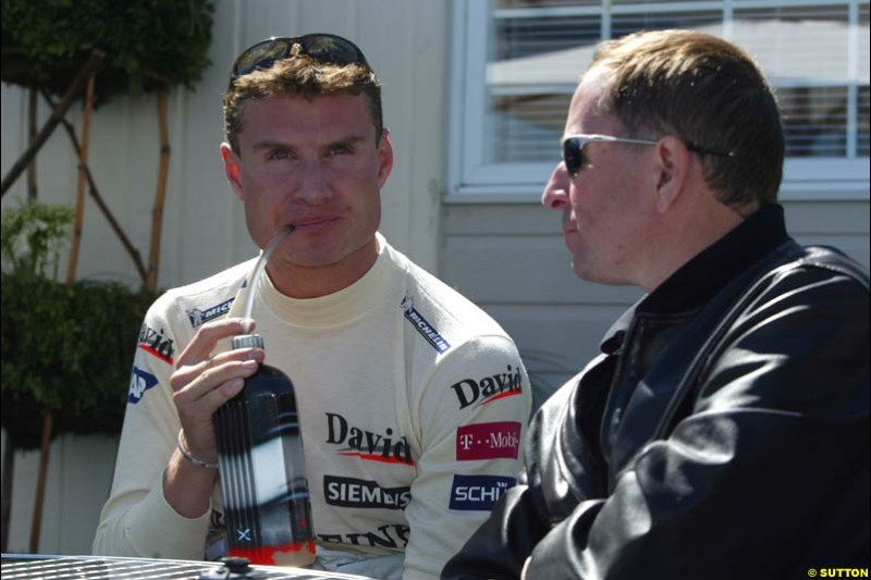 David Coulthard and Martin Brundle, Canadian GP, Saturday June 12th, 2004.