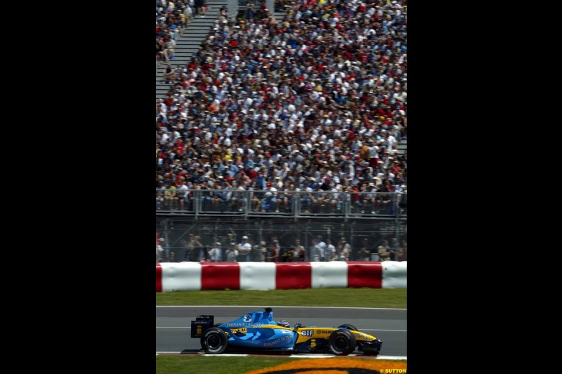 Fernando Alonso, Renault. Qualifying for the Canadian Grand Prix. Montreal, Canada, 12 June 2004.