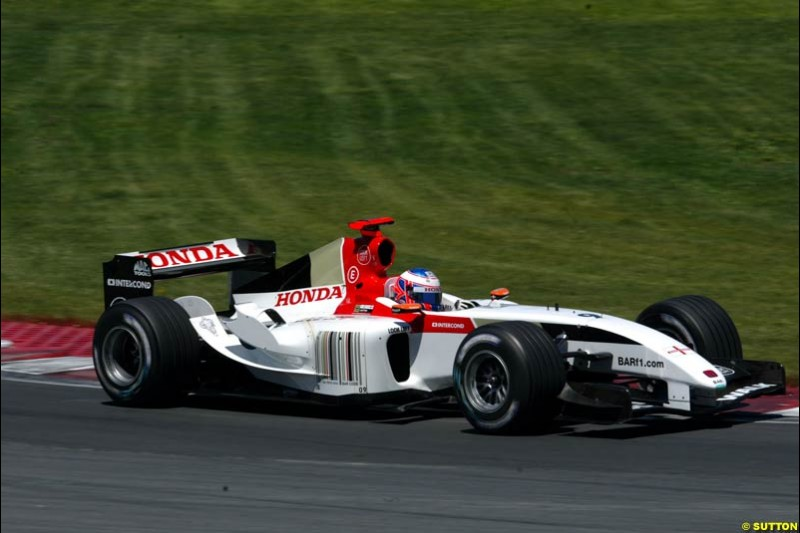 Jenson Button, BAR. Qualifying for the Canadian Grand Prix. Montreal, Canada, 12 June 2004.