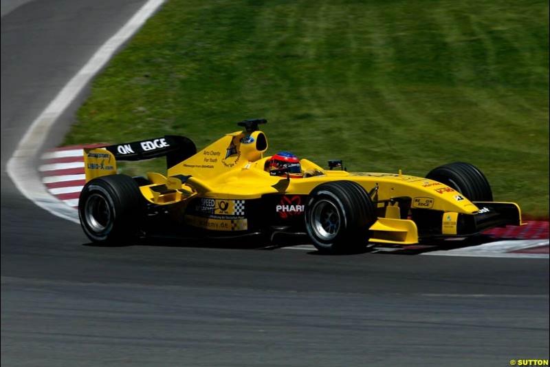 Timo Glock, Jordan. Qualifying for the Canadian Grand Prix. Montreal, Canada, 12 June 2004.