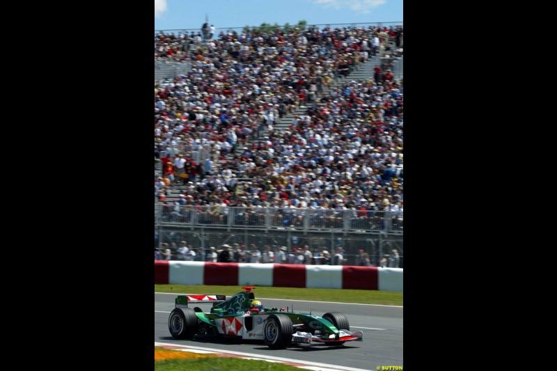 Mark Webber, Jaguar. Qualifying for the Canadian Grand Prix. Montreal, Canada, 12 June 2004.