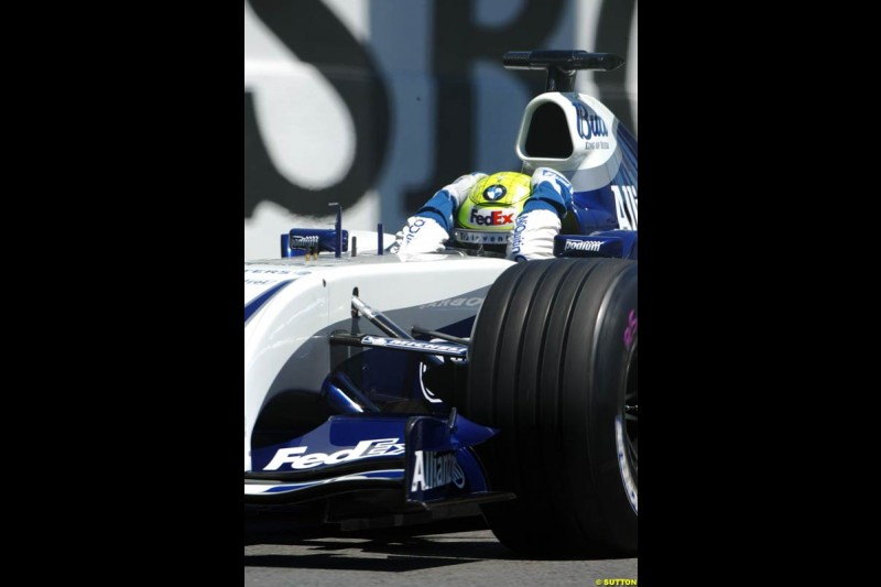Ralf Schumacher, Williams. Qualifying for the Canadian Grand Prix. Montreal, Canada, 12 June 2004.