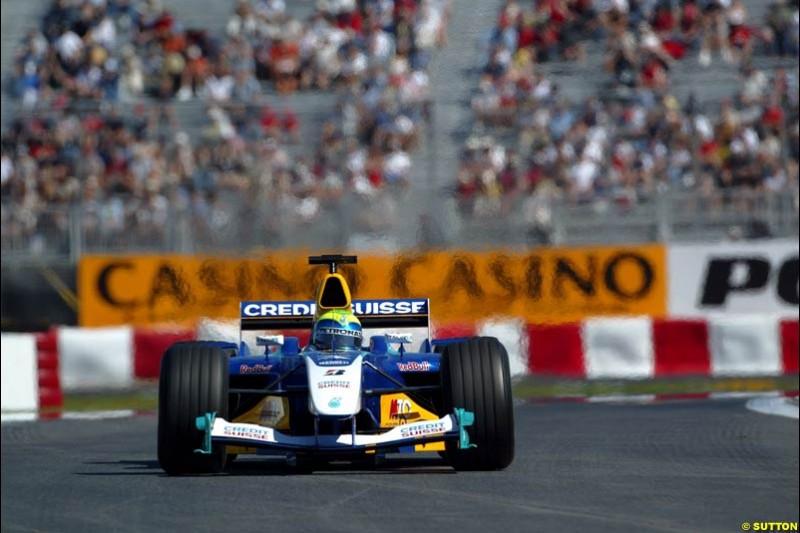Felipe Massa, Sauber. Qualifying for the Canadian Grand Prix. Montreal, Canada, 12 June 2004.