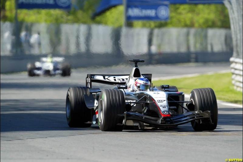 Kimi Raikkonen, McLaren. Qualifying for the Canadian Grand Prix. Montreal, Canada, 12 June 2004.