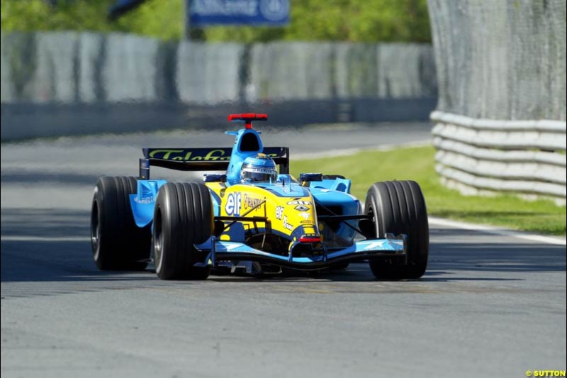 Jarno Trulli, Renault. Qualifying for the Canadian Grand Prix. Montreal, Canada, 12 June 2004.