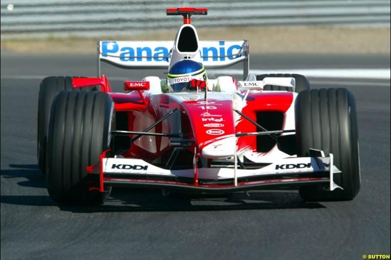 Cristiano da Matta, Toyota. Qualifying for the Canadian Grand Prix. Montreal, Canada, 12 June 2004.