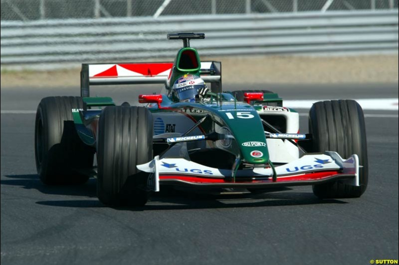 Christian Klien, Jaguar. Qualifying for the Canadian Grand Prix. Montreal, Canada, 12 June 2004.
