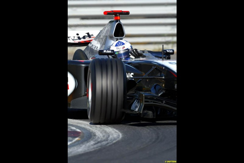 David Coulthard, McLaren. Qualifying for the Canadian Grand Prix. Montreal, Canada, 12 June 2004.