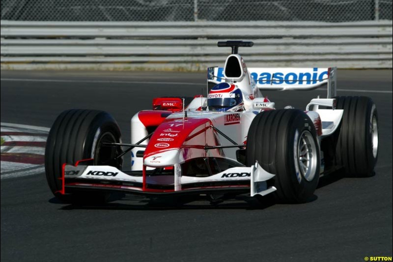 Olivier Panis, Toyota. Qualifying for the Canadian Grand Prix. Montreal, Canada, 12 June 2004.