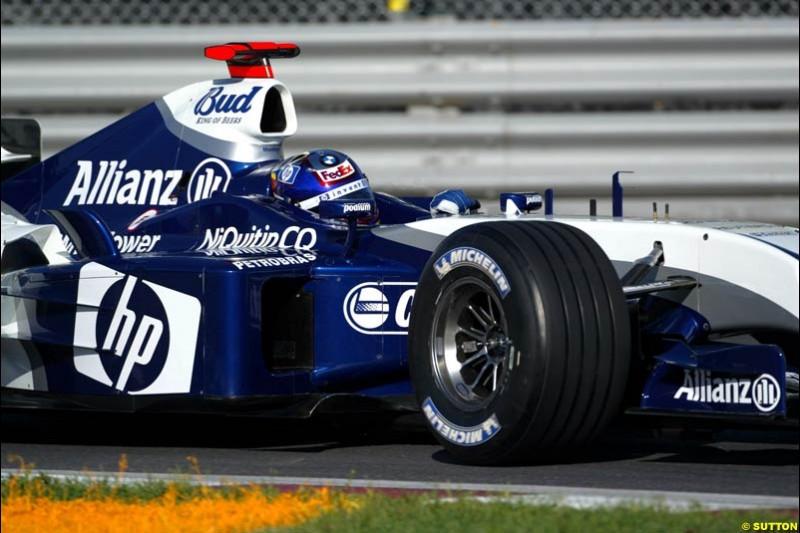 Juan Pablo Montoya, Williams. Qualifying for the Canadian Grand Prix. Montreal, Canada, 12 June 2004.
