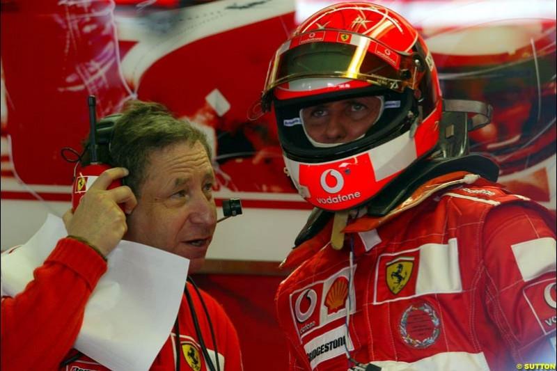Michael Schumacher, Ferrari. Qualifying for the Canadian Grand Prix. Montreal, Canada, 12 June 2004.