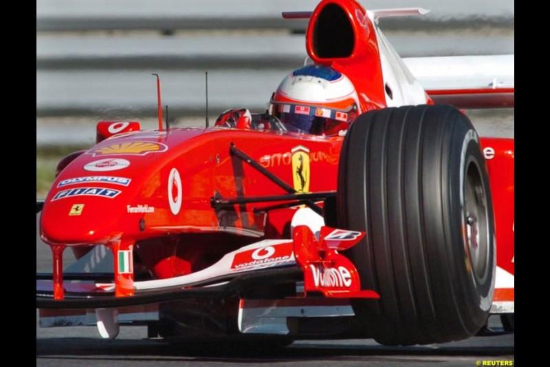 Rubens Barrichello, Ferrari. The Canadian Grand Prix. Montreal, Canada, 12 June 2004.