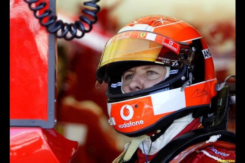 Michael Schumacher, Ferrari. The Canadian Grand Prix. Montreal, Canada, 12 June 2004.