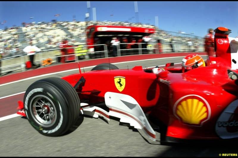 Michael Schumacher, Ferrari, during practice. The Canadian Grand Prix. Montreal, Canada, 12 June 2004.