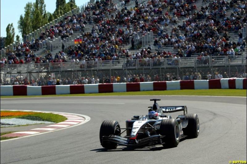 Kimi Raikkonen, Mclaren-Mercedes, Canadian GP, Saturday June 12th, 2004.